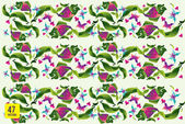 Fish and nature pattern vector