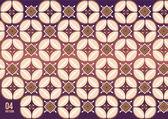 javanese batik on vintage bright night