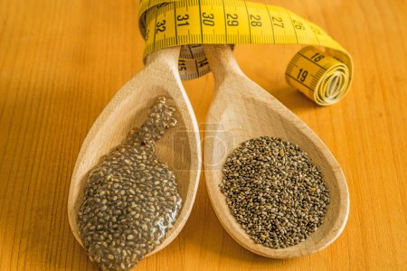 Chia seeds and seed gelatin for diet