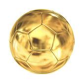 Zlaté fotbalový míč izolovaných na bílém pozadí