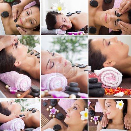 Photo pour Collection de soins et massages spa - image libre de droit