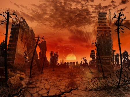 Photo for The illustration on the theme of the apocalypse - Royalty Free Image