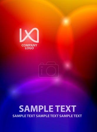 Light spots on colorful background