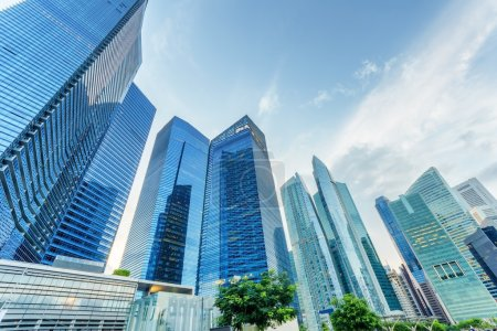 Skyscrapers in financial district of Singapore