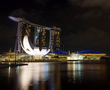 Marina Bay Sands in financial district of Singapore