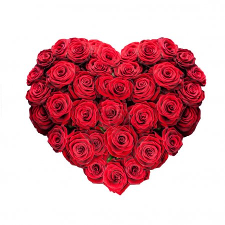 Photo pour Coeur rose rouge isolé sur blanc - image libre de droit
