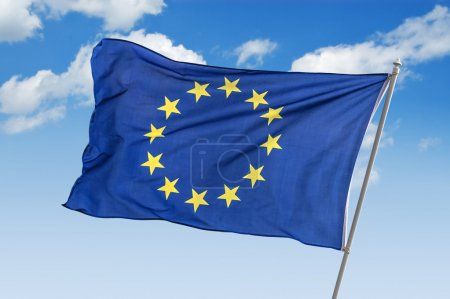 Photo for Flag of europe union closeup - Royalty Free Image