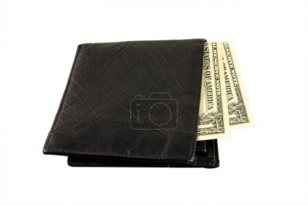 Photo pour Dollars en portefeuille - image libre de droit