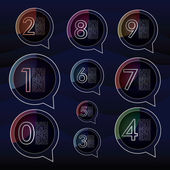 Colorful background numbers 1 2 3 4 5 6 7 8 9