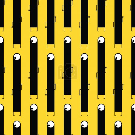 Illustration for Cute monsters - seamless pattern - Royalty Free Image
