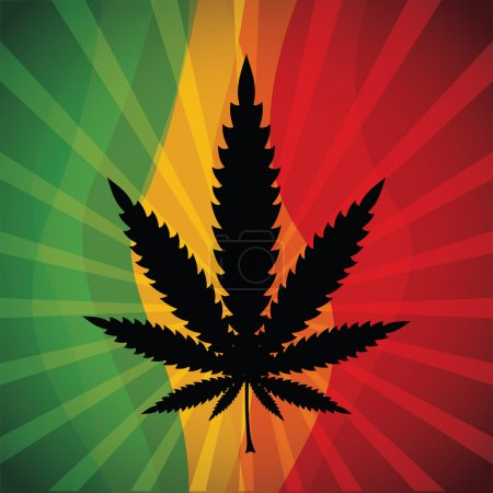 Illustration for Marijuana leaf at abstract background - Royalty Free Image