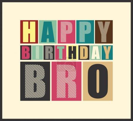 Retro Happy birthday card.