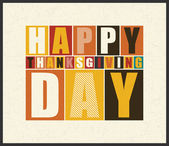 Happy Thanksgiving Day  Retro letters on grunge background