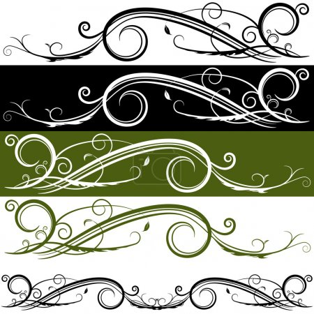 Illustration for An image of a flourish banner. - Royalty Free Image