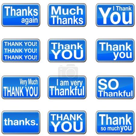Illustration pour Une image d'icônes de remerciement . - image libre de droit