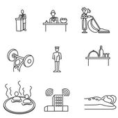 An image of a hotel icon set
