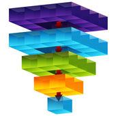 3d Cube Funnel