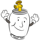 An image of a propane tank cartoon character