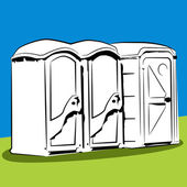 Přenosná veřejné toalety