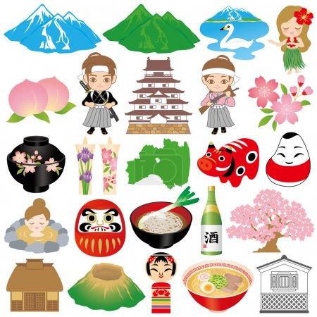 Fukushima illustrations.