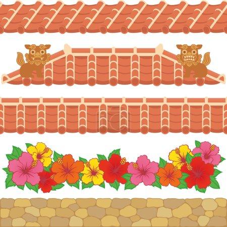 Asian red tiles.