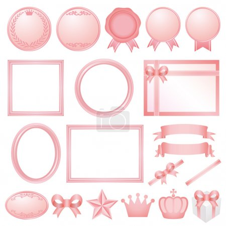 Pink decorations.