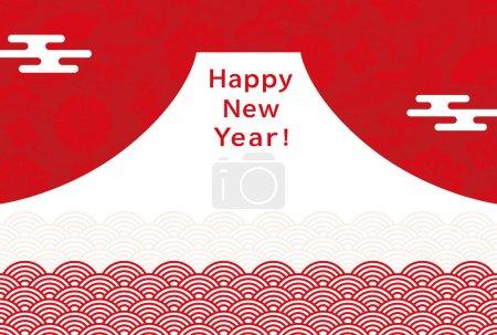 New Year's card of Mt. Fuji.