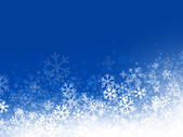 Winter Abstract Snowflake Background in Blue Copyspace