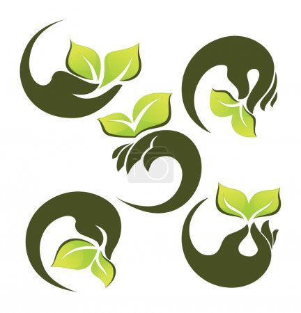 Illustration for Vector collection of ecological symbols and signs - Royalty Free Image