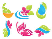 Beauty of nature vector collection of sign symbols and icons