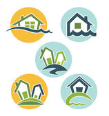 My lovely home vector collection of property symbols and icons