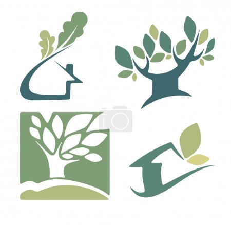 Ecology, nature, house and homes signs and icons