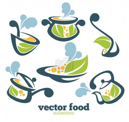 Illustration for Vector food collection - Royalty Free Image