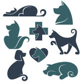 my favorite pet vector collection of dogs symbols