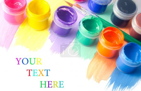 Photo for Color paint and brushes - Royalty Free Image