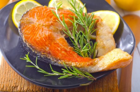 Photo for Baked salmon - Royalty Free Image