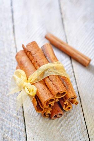 Cinnamon on a table