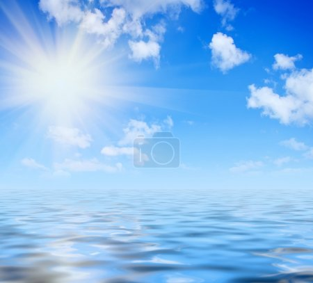 Photo for Blue sky texture - Royalty Free Image