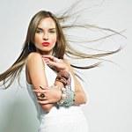 Pretty girl with bijouterie. Fashion photo. Beauty...