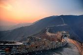 Velká čínská zeď sunset