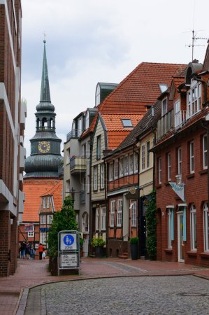 The Old Town and the Church of St. Cosmas and Damian in Stade, Germany
