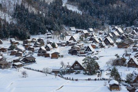Historic Village of Shirakawa-go in winter