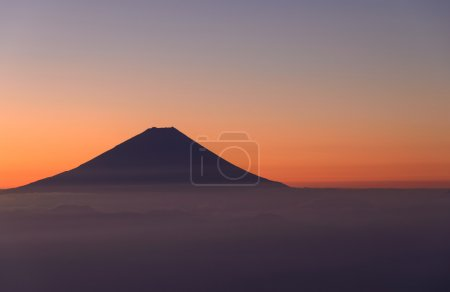 Mt.Fuji and Sea of clouds at dawn