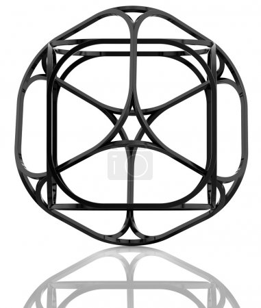 3d abstract cube.
