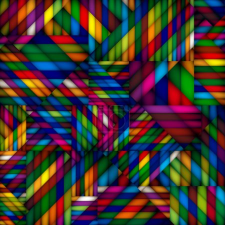 Illustration for Abstract colorful geometric textile seamless pattern. - Royalty Free Image