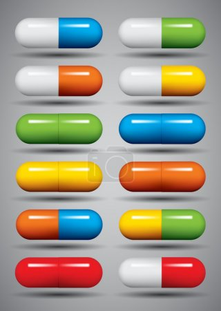 Medical pills set.