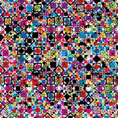 Illustration pour Diagramme géométrique continu avec éléments colorés, fond vectoriel. - image libre de droit