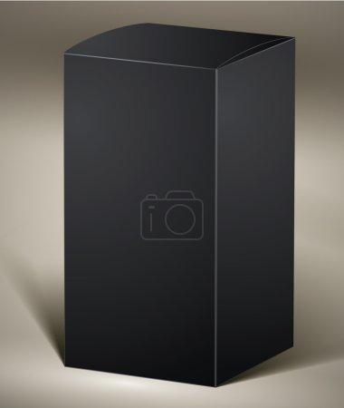 Illustration pour Pack noir pour la conception ou la visualisation de produits, vertical, vectoriel . - image libre de droit