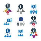 Informace analýze shromažďování a výměnu motiv ikon,