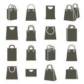 Shopping back icons isolated on white background vector set sho